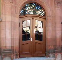 Goethe Gymnasium Weißenfels, aufgearbeitete Tür