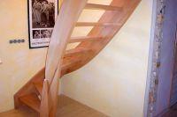 Treppe, 1/4 gewendelt, Buche